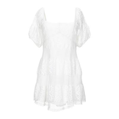 FREE PEOPLE ミニワンピース&ドレス ホワイト M コットン 60% / ナイロン 40% ミニワンピース&ドレス
