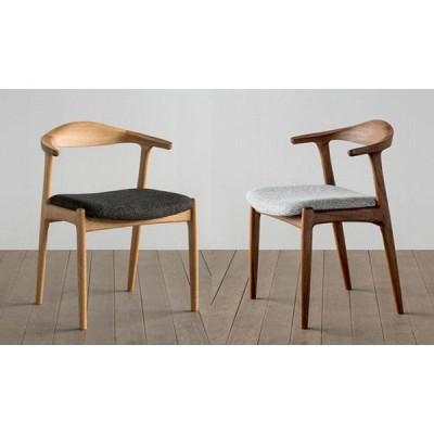 ダイニングチェア セミアームチェア 椅子 イス オメガ 受注生産 食堂 食卓 シンプル シャープ オイル塗装 ウレタン塗装 国産 日本製