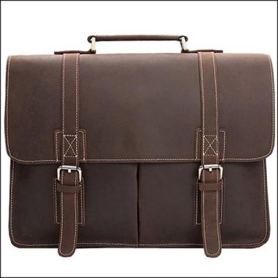 ビジネスバッグ 本革 ブリーフケース ブラウン アンティーク レザー 通勤鞄 15インチ対応 ショルダーバッグ 通勤バッグ