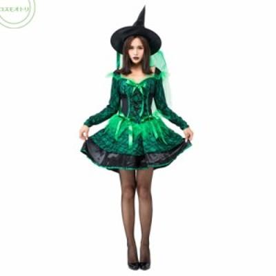 ハロウィン コスプレ 舞台演出 レース魔女 大人 パーティー変装 Halloween コスチューム