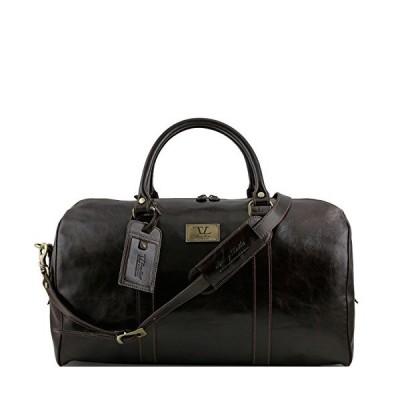 Tuscany Leather - TL Voyager - Sac de voyage en cuir avec poche 〓 l'arri〓re - Grand mod〓le Marron fonc〓 - TL141247/5並行輸入品