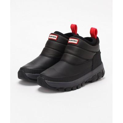 <HUNTER(Women)/ハンター> ブーツ ORIGINAL INSULATED SNOW ANKLE クロ(BLACK)【三越伊勢丹/公式】