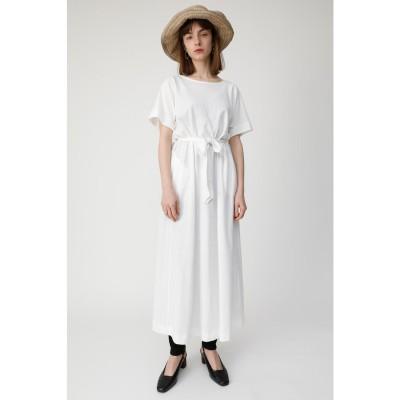 マウジー moussy A LINE CUT DRESS (オフホワイト)