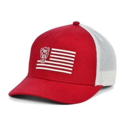 トップ・オブ・ザ・ワールド 帽子 アクセサリー メンズ North Carolina State Wolfpack Here Trucker Cap Red/White