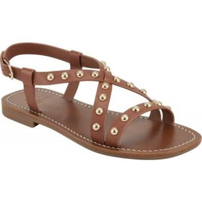 マーク フィッシャー Marc Fisher レディース サンダル・ミュール シューズ・靴 Fianna Studded Slingback Sandal Saddle Ciba Leather