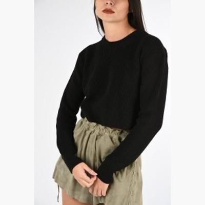 DIESEL/ディーゼル セーター Black レディース 春夏2019 BLACK GOLD Cropped MERLY Sweater dk