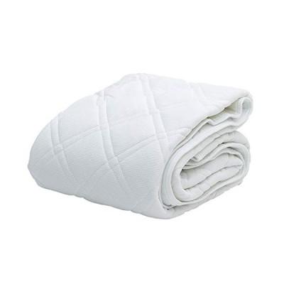 吸水速乾繊維 クールパス ニットワッフル ベッドパッド 冬 夏 すぐ乾く じゃぶじゃぶ洗える 柔らか 洗濯 吸汗 120X200cm セミダ