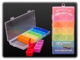 大賀屋 日本製 藥盒 一周藥盒 分格盒 3*7格 收納盒 藥盒 營養 補充盒 置物盒 隨身包 正版 J00050926