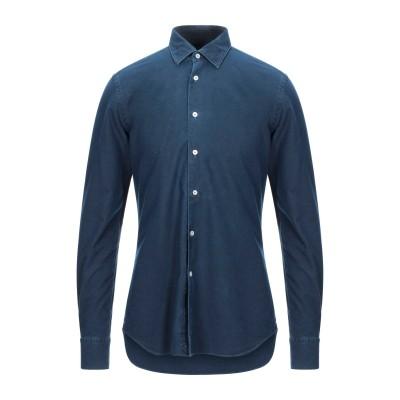 XACUS シャツ ダークブルー 40 コットン 100% シャツ