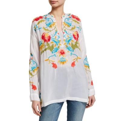 ジョニーワズ レディース シャツ トップス Vagabond Floral Embroidered Blouse
