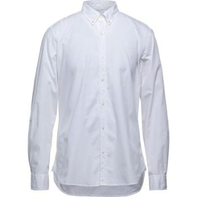 バブアー BARBOUR メンズ シャツ トップス solid color shirt White