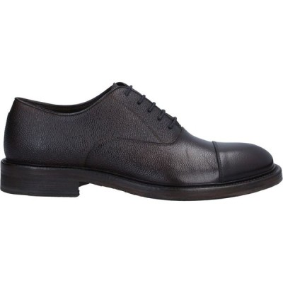 J.J. メンズ シューズ・靴 laced shoes Dark brown