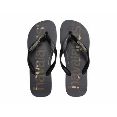 ハワイアナス サンダル シューズ メンズ Top Logomania Sandal Black/Black/White