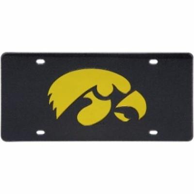 Stockdale ストックデール スポーツ用品  Iowa Hawkeyes Glitter License Plate - Black