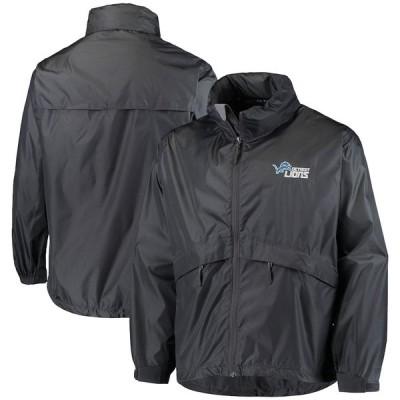 """メンズ ジャケット """"Detroit Lions"""" Sportsman Waterproof Packable Full-Zip Jacket - Graphite"""