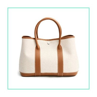 CANVAS & TOGO LEATHER TOTE BAG/CAMEL COMBI (SMALL) Genuine Leather Premium Canvas Womens Korean Handbag並行輸入品