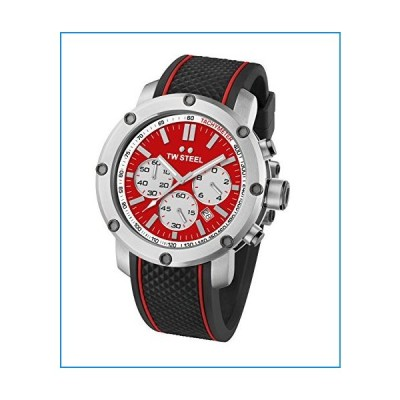 TW Steel Men's TS1 Stainless Steel Watch with Black Silicone Band【並行輸入品】