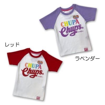 Candychuu(キャンディチュウ) 200503-チュッパチャップスコラボラグランTシャツ(レッド、ラベンダー)