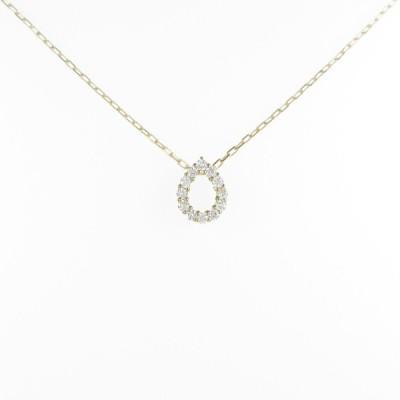 【リメイク】K18YG ドロップ ダイヤモンドネックレス