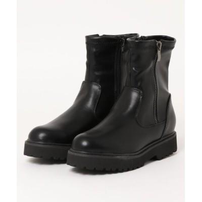 Parade ワシントン靴店 / 【STYLE】フェイクジップストレッチブーツ 214-143【厚底】 WOMEN シューズ > ブーツ