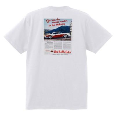アドバタイジング ビュイック 270 白 Tシャツ 黒地へ変更可能 1957 スーパー リビエラ センチュリー ロードマスター オールディーズ