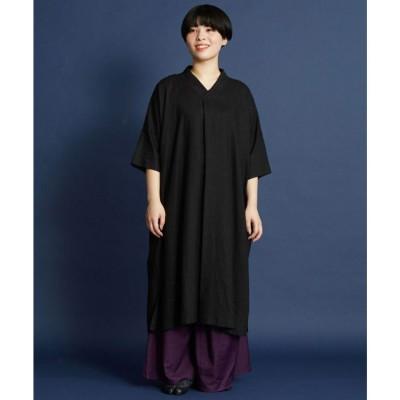 【カヤ】黄昏 麻衣ワンピース スミクロ