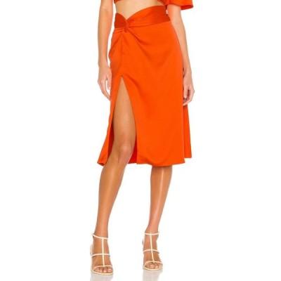 カミラ コエーリョ Camila Coelho レディース ひざ丈スカート スカート Silvia Midi Skirt Blood Orange