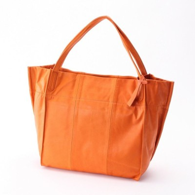 日本製牛革トートバッグ オレンジ