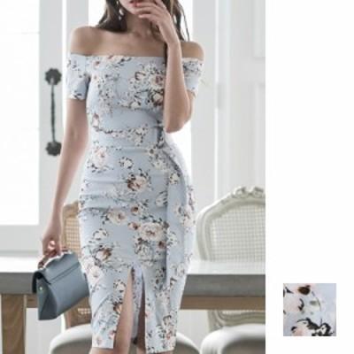 韓国 ファッション レディース ワンピース パーティードレス ひざ丈 ミディアム 春 夏 新作 パーティー ブライダル naloI345 結婚式 お呼