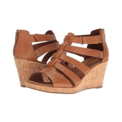 Rockport ロックポート レディース 女性用 シューズ 靴 ヒール Briah Gladiator - Dark Tan Leather