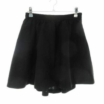 【中古】デイシー deicy スカート フレア ミニ 無地 1 黒 ブラック /CK レディース