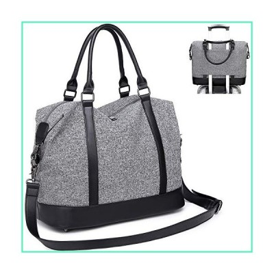 CAMTOP Women Travel Tote Overnight Weekender Carry On Bag With Luggage Sleeve (A Gray)並行輸入品