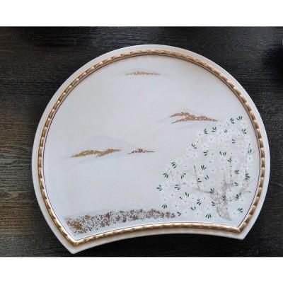 盛皿 大皿 桜 半月遠山桜盛皿 34cm 美濃焼 在庫整理品