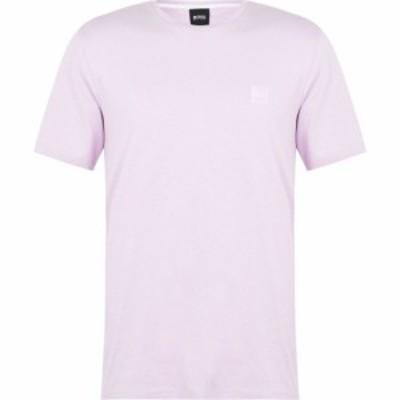 ヒューゴ ボス Boss メンズ Tシャツ トップス Tales Crew Neck T Shirt Dark Pink