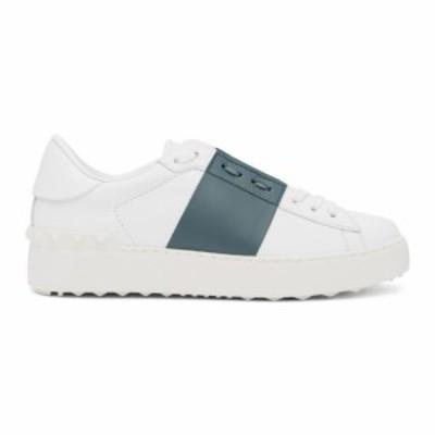 ヴァレンティノ Valentino レディース スニーカー シューズ・靴 White and Blue Garavani Open Sneakers White/Amadeus