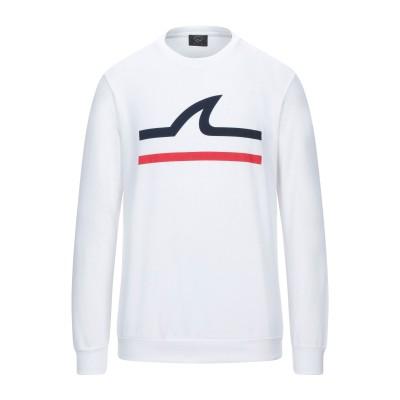ポール・アンド・シャーク PAUL & SHARK スウェットシャツ ホワイト S コットン 100% スウェットシャツ