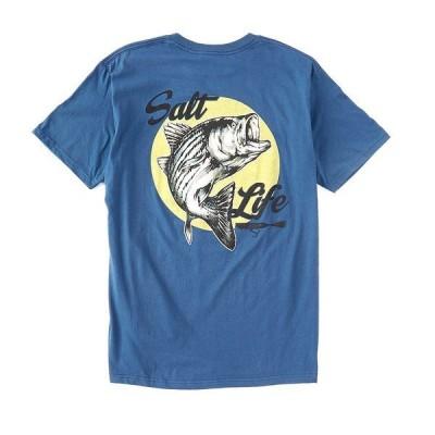 ソルトライフ メンズ Tシャツ トップス Short-Sleeve Striper Dreamin' Graphic T-Shirt Washed Navy