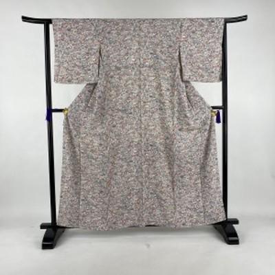 小紋 美品 優品 山車 白 袷 身丈160cm 裄丈63.5cm S 正絹 中古