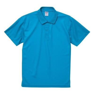 ポロシャツ 半袖 メンズ ドライ 鹿の子 4.7オンス カノコ ポロ ノンブリード 無地