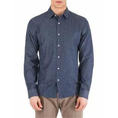 Michael Kors メンズシャツ Michael Kors Long Sleeve Shirt Dress Shirt Slim Fit Indig