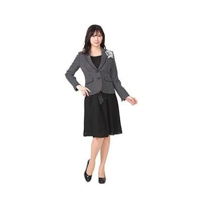 (ブティックユリア) Boutique Yuria 2 ワンピース スーツ ドット柄ジャケット 3点セット 7号 ドット柄