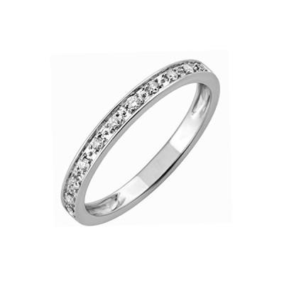 10k White Gold Diamond Wedding/anniversary Ring Band (0.11 Carat)
