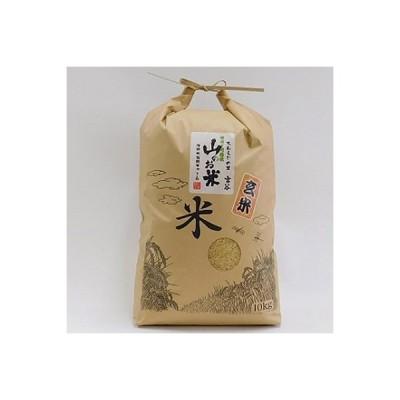 津野町 ふるさと納税 大わらじの里 宮谷 山のお米 玄米【10kg】