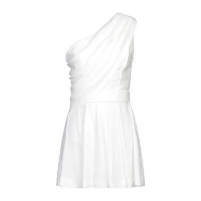 SAINT LAURENT ミニワンピース&ドレス ホワイト 46 アセテート 53% / レーヨン 47% ミニワンピース&ドレス