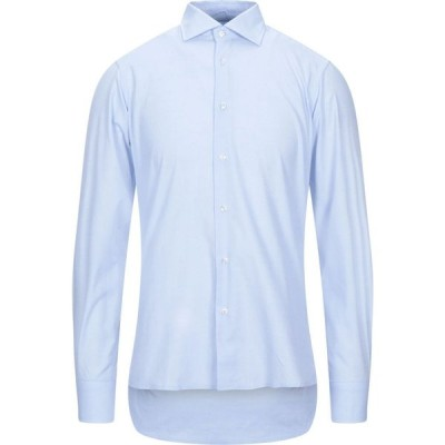 R3D ウッド R3D WOOD メンズ シャツ トップス Solid Color Shirt Sky blue