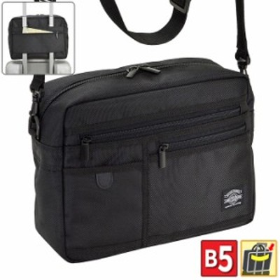 ショルダーバッグ ビジネスバッグ メンズ B5 軽量 キャリーバー通し 出張 旅行 観光 黒 KBN33707 ANDY HAWARD