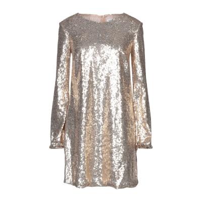 パロッシュ P.A.R.O.S.H. ミニワンピース&ドレス ゴールド XS ポリエステル 100% / ポリ塩化ビニル ミニワンピース&ドレス