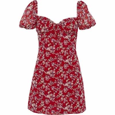 バルドー BARDOT レディース ワンピース ミニ丈 ワンピース・ドレス Juniper Print Minidress Red Bloom