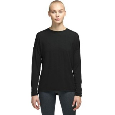 ノースフェイス レディース Tシャツ トップス Workout Long-Sleeve Top Tnf Black