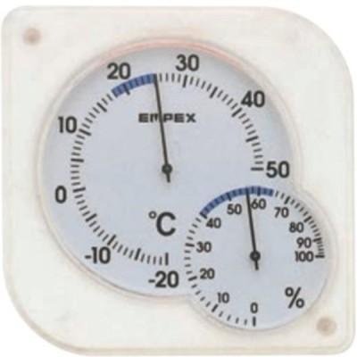 シュクレmidi温・湿度計 クリアホワイト